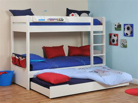 buy stompa classic white bunk bed with trundle bed