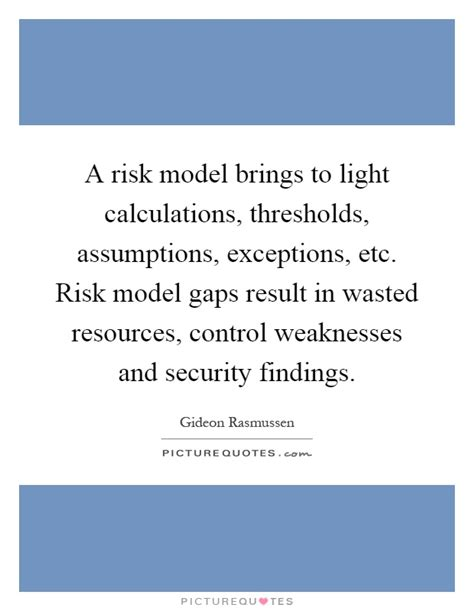 light calculations a risk model brings to light calculations thresholds