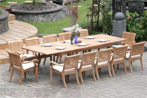 Extendable Dining Table Plans teak outdoor dining table design teak outdoor dining