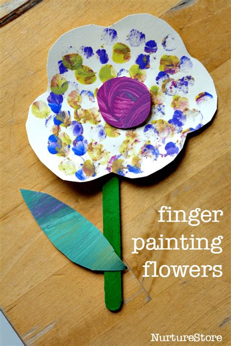 craft projects for babies finger painting flower craft for toddlers nurturestore