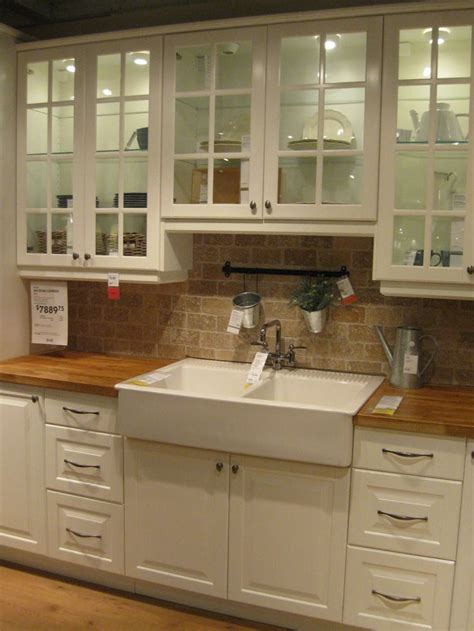the counter kitchen sinks this drop in apron front sink and butcher block