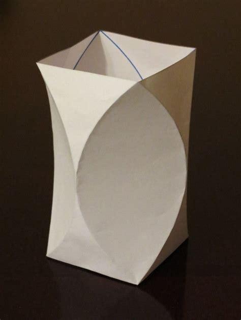 rectangular prism origami curved crease vase diy papel origami