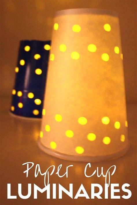 winter solstice crafts for paper cup luminaries for winter solstice activities