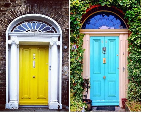 colorful doors a colorful look the doors of dublin huffpost