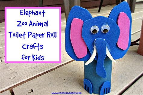 how to roll paper for crafts elephant zoo animal toilet paper roll crafts for
