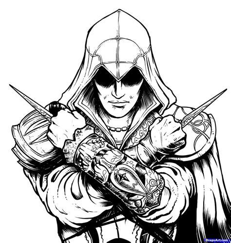 как нарисовать ezio из assassins creed карандашом поэтапно