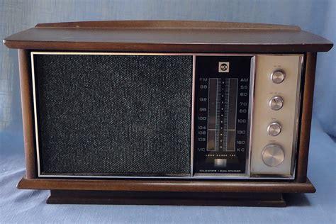 am fm cabinet radio rca am fm afc solid state dual speaker walnut cabinet