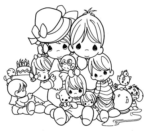 precious moment coloring pages birthday gianfreda net