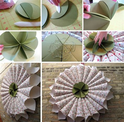 home decor paper crafts how to make paper wreaths handmade craft home d 233 cor ideas