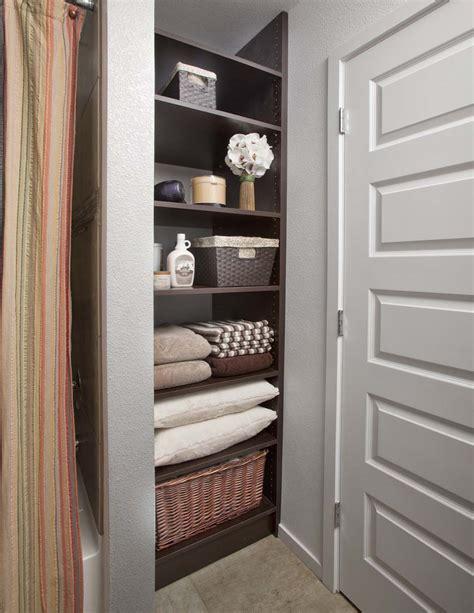 bathroom storage closet bathroom closet organization special spaces organizers