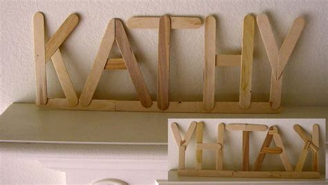 craft stick projects for popsicle stick signage projects for