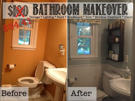 Bathroom Ideas Cheap Makeovers by Two It Yourself Reveal 100 Small Bathroom Makeover