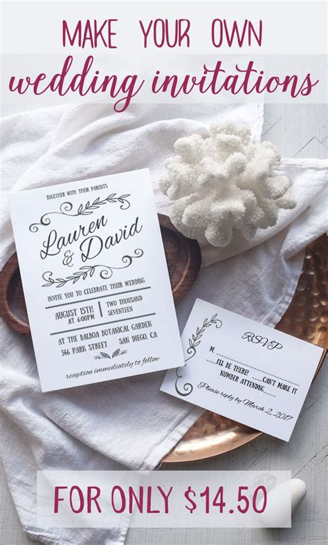 blog worthy wedding invitations that you can make at home