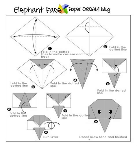 how to make a elephant origami easy origami elephant paper origami guide