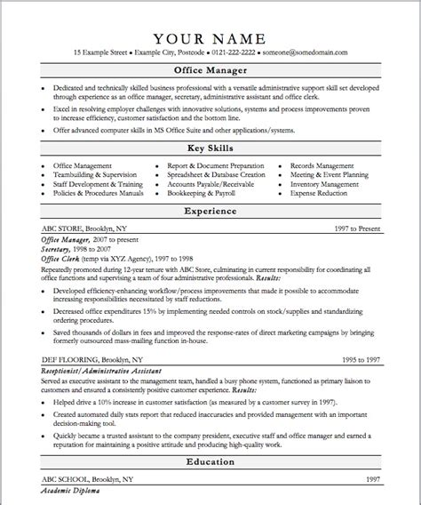 office manager resume templates free office manager resume