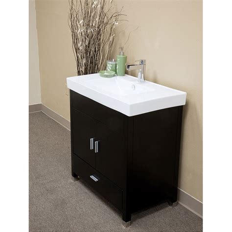 single sink bathroom vanity bellaterra home visconti black finish 32 quot modern single
