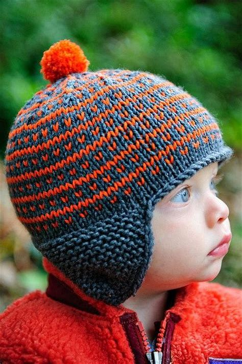 knitting pattern boys hat simply fair isle go broncos so and ears