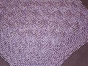 knitted basket weave afghan pattern cousin s crocheted basket weave baby blanket