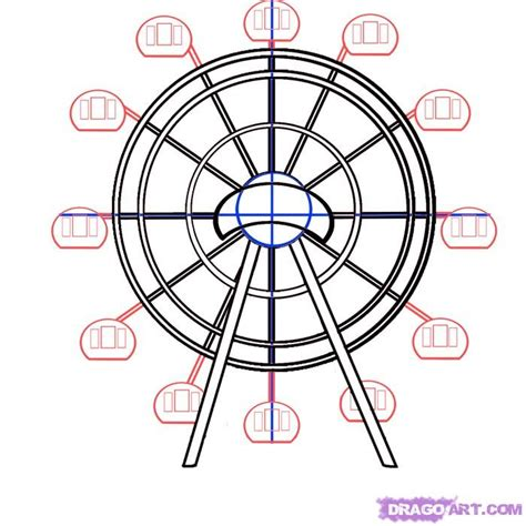 how to draw a how to draw a ferris wheel step by step stuff pop
