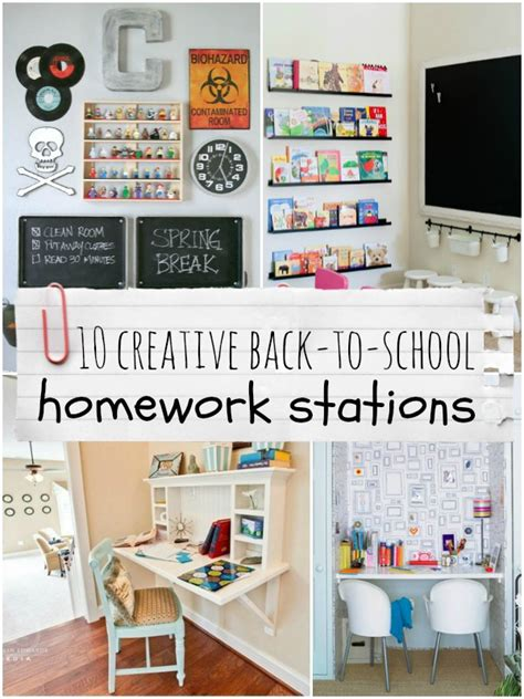homework station ideas top ten creative homework station ideas remodelaholic
