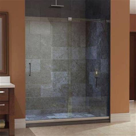 sliding shower doors home depot dreamline mirage 56 in to 60 in x 72 in frameless