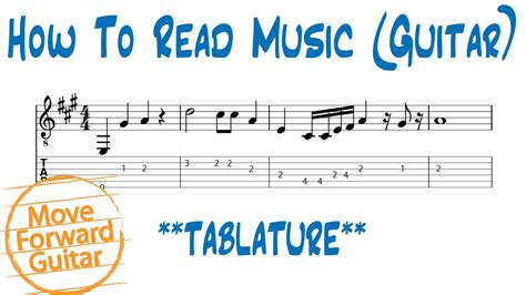how to read how to read guitar tab vs standard notation