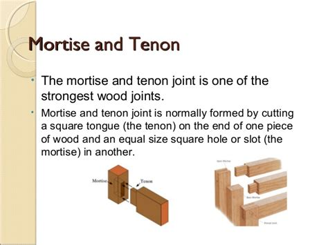 what is the strongest joint in woodworking types of wood joints