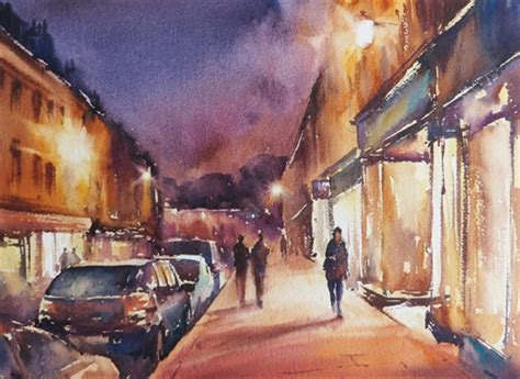 paint nite uk how to paint in watercolour with paul weaver