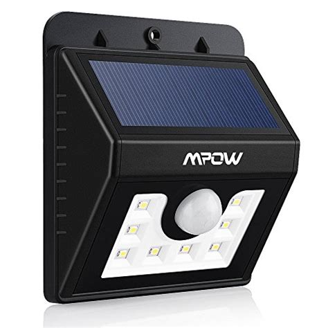 solar outdoor security lighting mpow led solar light bright security lighting outdoor