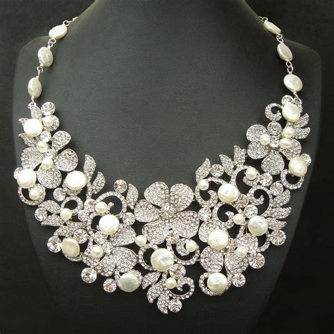 how to make wedding jewelry coin pearl bridal necklace statement wedding necklace