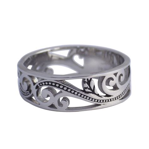 how to make stainless steel jewelry womens surgical stainless steel filigree ring