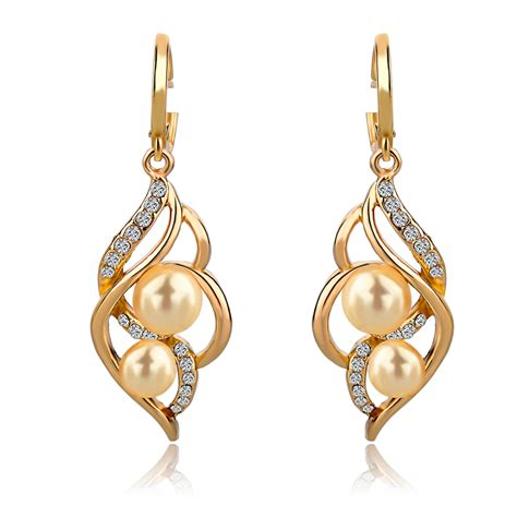 earrings with jewelry charm fashion wedding earrings with pearls drop