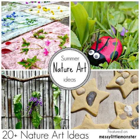 arts and crafts for for summer nature
