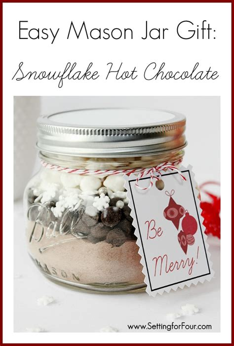 gift recipe ideas jar gift idea chocolate with free pintable tag