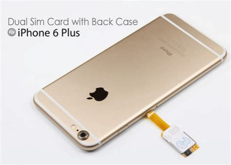 make your own sim card adapter dual sim card adapter with back for iphone 6 plus