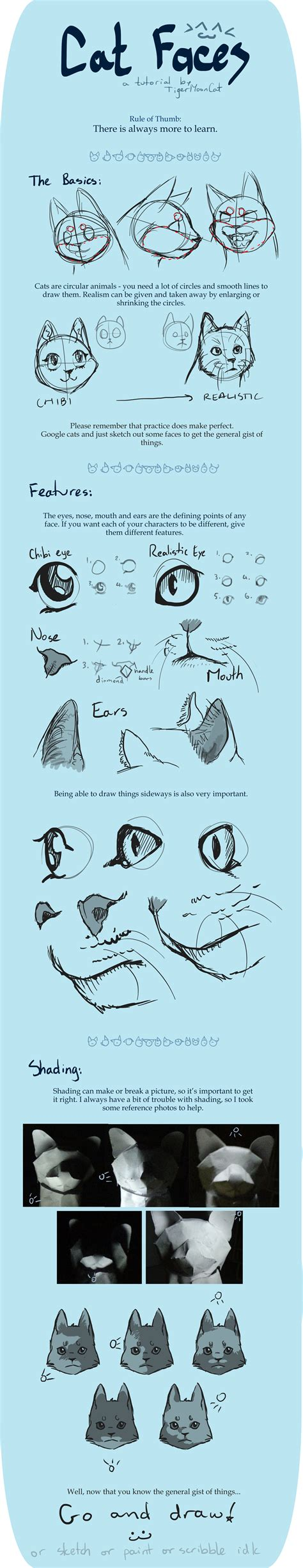 cat tutorial cat faces tutorial by tigermooncat on deviantart