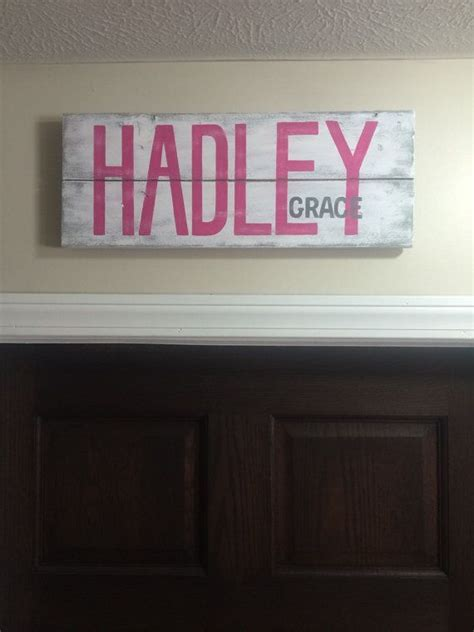 best 25 painted name signs 25 best ideas about baby name signs on