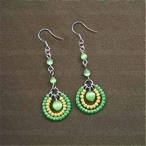 step by step how to make american beaded earrings how to make seed bead earrings 4 step seed bead
