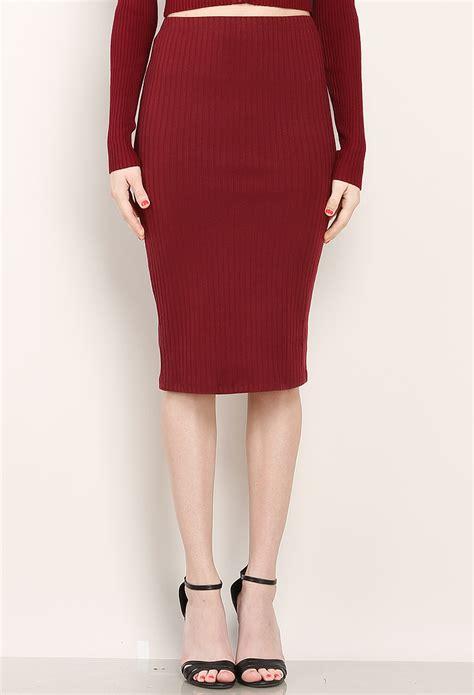 knit midi skirt ribbed knit midi skirt shop dresses at papaya clothing