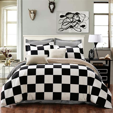 bedding black and white total fab black and white checkered comforters bedding sets