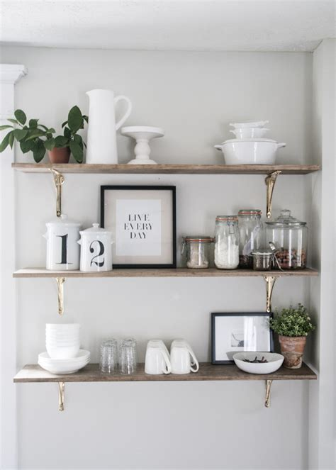 kitchen shelves design 8 ways to style open shelving in the kitchen run to radiance
