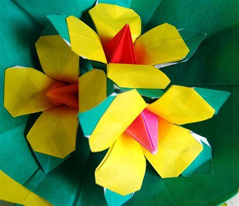 beautiful origami flower origami maniacs beautiful origami yellow flowers by