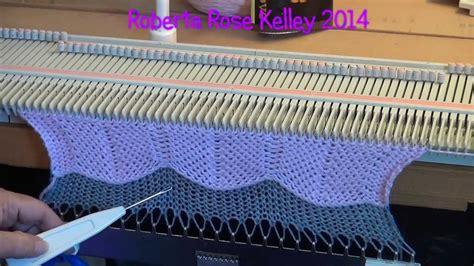 machine knitting machine knit chevron
