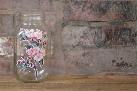 how to decoupage a glass jar decoupage techniques glass jar adorable home