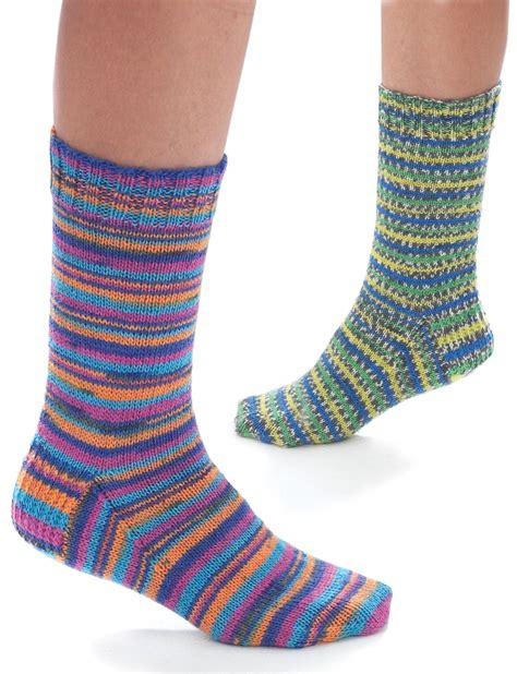 socks knitting pattern free jacquard stripe socks patterns yarnspirations