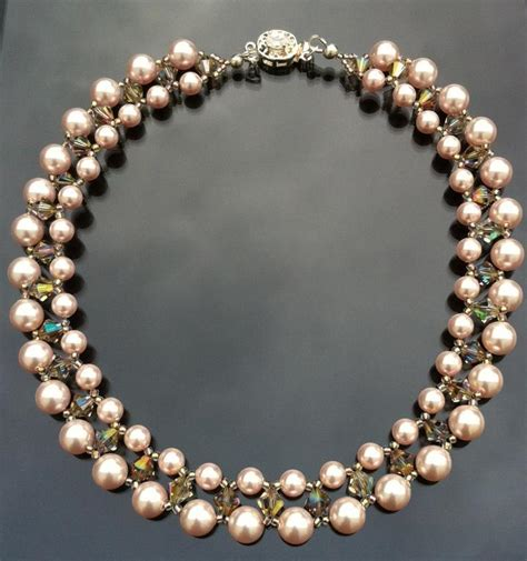 swarovski crystals for jewelry you to see necklace swarovski pearls with crystals on