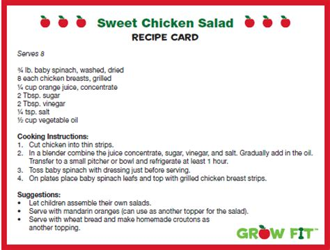 how to make health card nutritious kid friendly recipe sweet chicken salad la