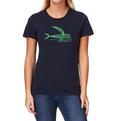 shirts with patagonia deconstruced flying fish t shirt navy blue