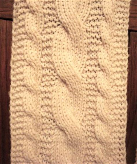 reversible cable scarf knitting pattern reversible cables