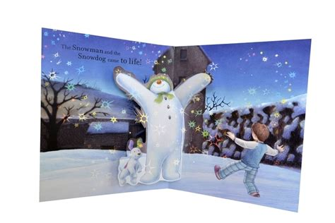 the snowman picture book the snowman and the snowdog pop up picture book by raymond